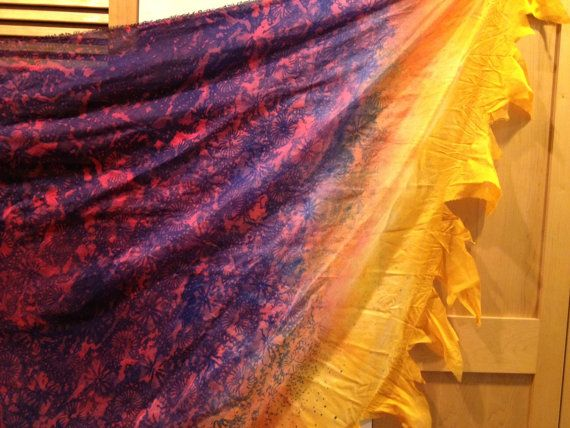 Freya Tattered Veil  Beautiful Half Circle by BelovedFreya on Etsy, $55.00
