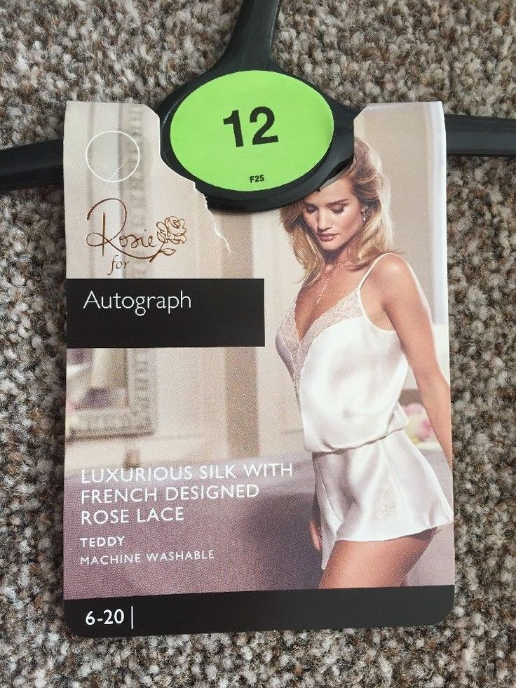 M&S AUTOGRAPH Rosie LUXURIOUS SILK TEDDY UK12 BNWT Machine Washable Ivory mix