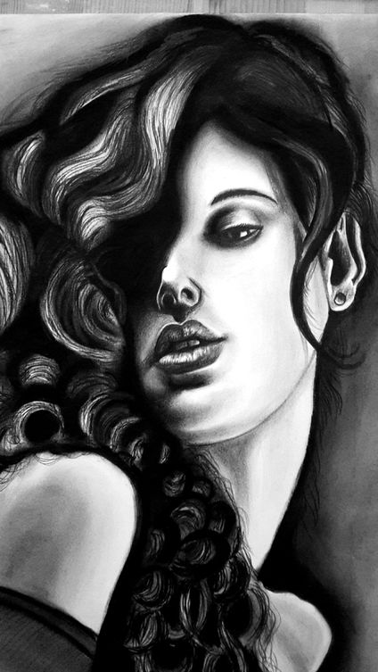 Highlights and Shadow. Charcoal on paper. By Rahul Bapat