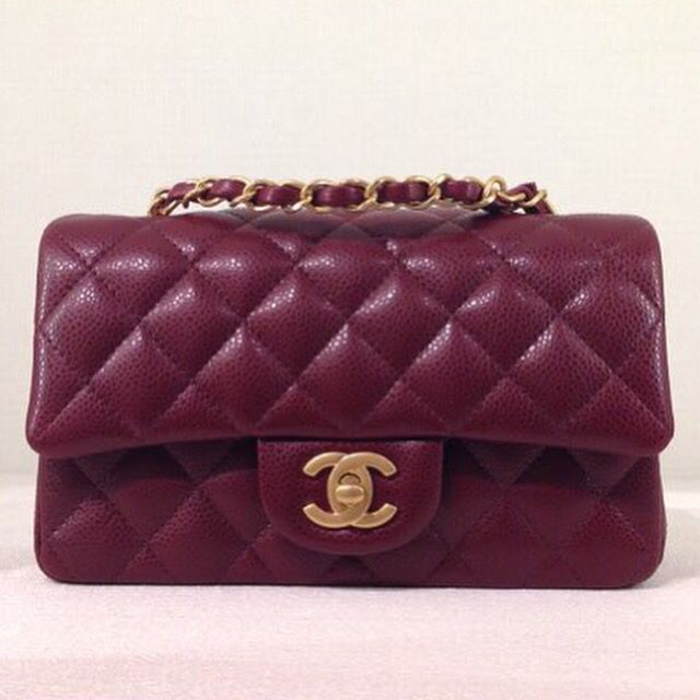 04ac32c30c2c Rectangle caviar mini burgundy .. Chanel obsessed   Haute Handbags   Chanel  mini, Chanel purse, Chanel