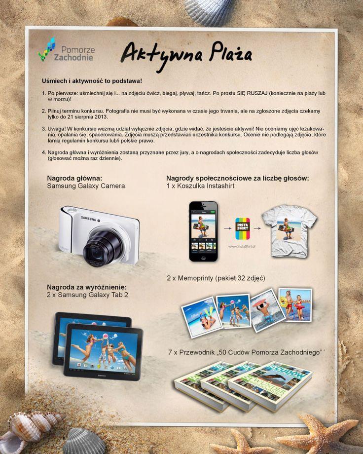 """Konkurs """"Akwtyna Plaża"""" organizowana przez #PomorzeZachodnie! Zapraszamy na: /www.facebook.com/PomZachodnie"""