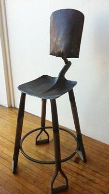 Shovel Chair. Ummm...WHAT have those shovels picked up in their past life? Hmmm...