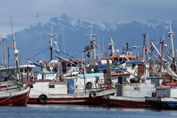 Puerto en Puerto Natales, Chile. //  By Jaume Cusido