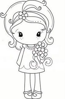 cute little girl with posy                                                                                                                                                                                 Plus