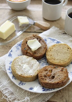 paleo english muffins- 2 minutes in microwave- quadruple ingredients, bake in small loaf pan 35-40 mins for a loaf