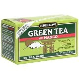 Bigelow Green Tea with Mango, 20-Count Boxes (Pack of 6) (Grocery)By Bigelow