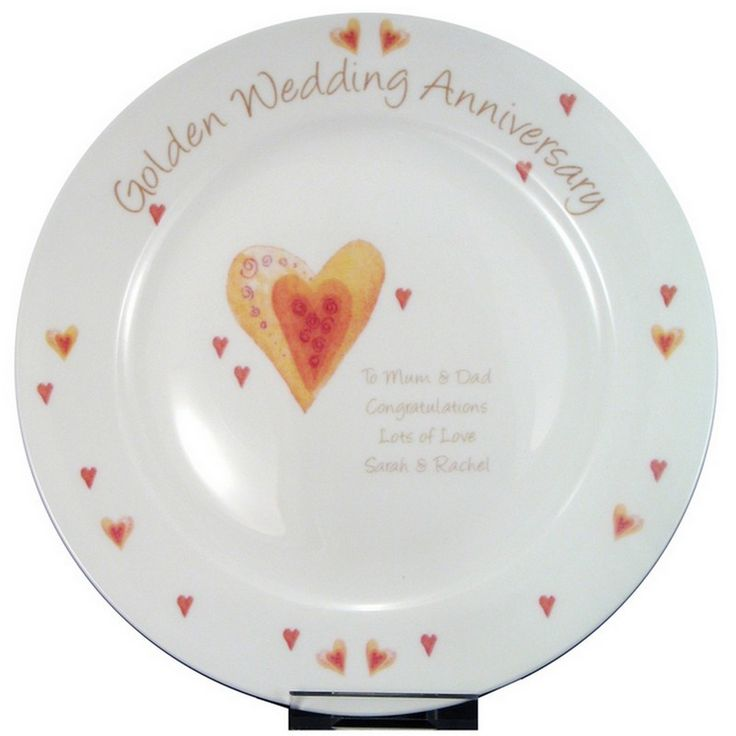 Celebrate A Golden 50th Wedding Anniversary With This Lovely Keepsake Plate