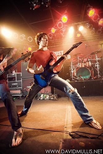 JB Brubaker - August Burns Red. rockin with them flippy floppies