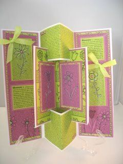 An unusual card and the Concertina Card Tutorial shows you how to get the result…