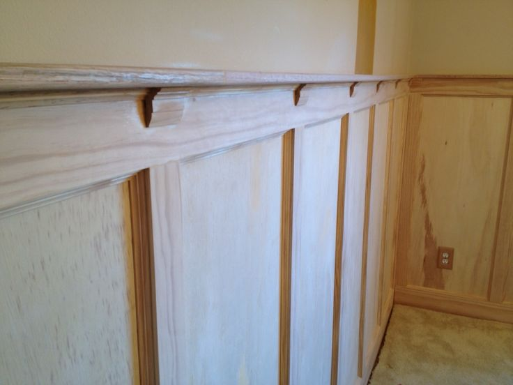 Decorating Exciting Wood Wainscoting Panels With Ceiling Lights And Crown Molding
