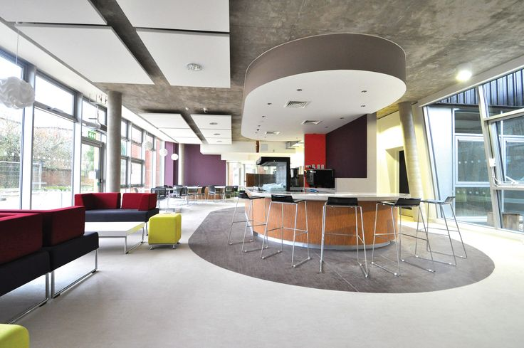 University of Chichester -  Learning Resource Centre: Allermuir pasue modular sofa and stool.