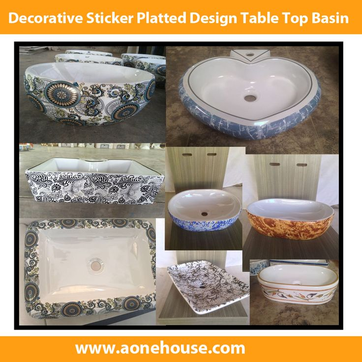 Decorative Sticker Platted Design Table Top Basin - http://www.aonehouse.com