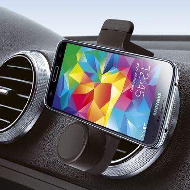 """Supporto universale da auto con attacco alla bocchetta di aerazione Codice prodotto: CAPTURE Descrizione: Supporto universale da auto con attacco alla bocchetta di aerazione. Specifiche tecniche: Specifiche: - Compatibile con smartphone dai 3.5"""" ai 6.3"""" come Apple, Samsung... - Apertura minima e massima supporto 48/90mm. - Rotazione a 360° per orientare il display in ogni posizione. Info a : info-tecniche@phonix.it"""