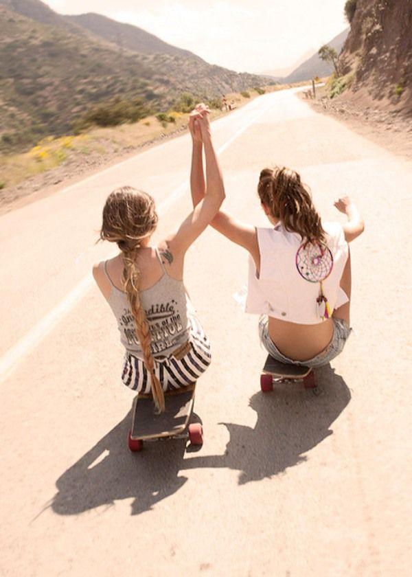 Skateboards, Best Friends, Bestfriends, Bff, Friends Pics, Friendship, Dreams Catchers, Summer, Longboards