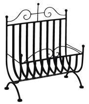 HANNE 26595 újságtartó fekete fém Kiegészítő bútorok fekete