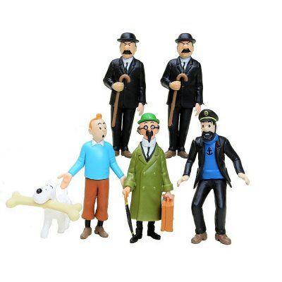Tintin+med+vänner+set
