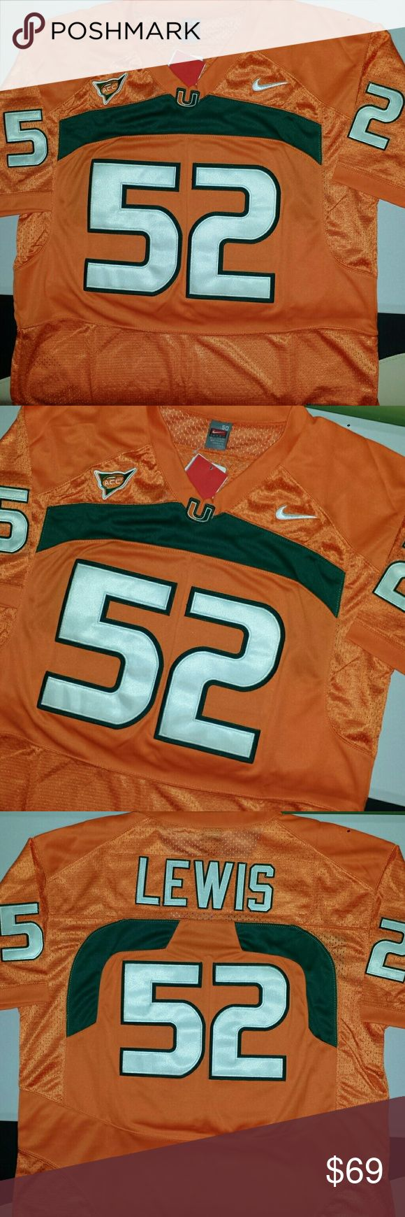 Ray Lewis Miami Hurricanes Jersey Stitched n Embroidered Nike Other