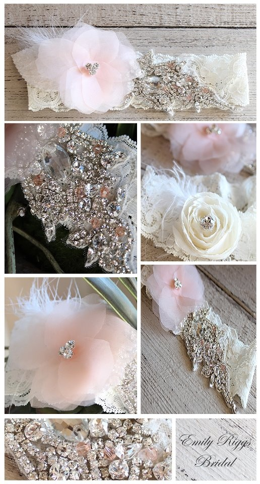 Love these vintage looking pieces. Could be for hair or worn as a garter