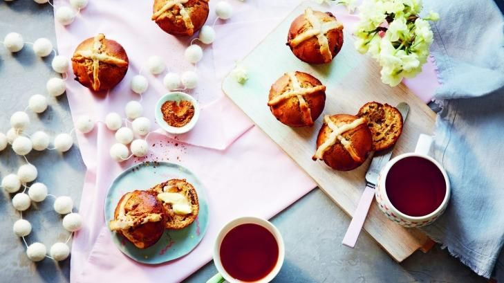 Dense but delicious ... Lola Berry's gluten-free, low-sugar, paleo hot cross buns.