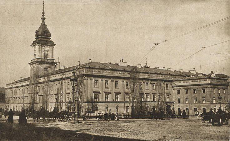 Zamek Królewski, Warszawa - 1912 rok, stare zdjęcia
