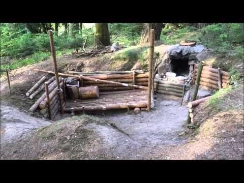 Bushcraft Camp Update 4 - Perimeter Walls Finished! | TA Outdoors - YouTube