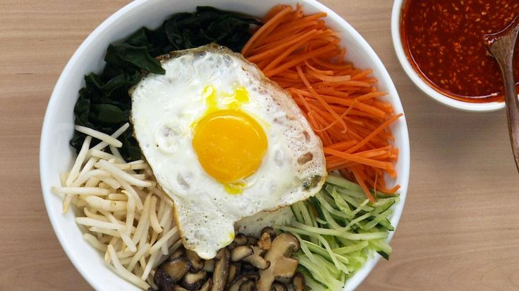 Try out this quick and healthy Korean mixed rice dish.