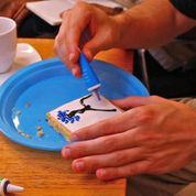 Art-making session using food items | #art #4-D experience | #multisensory