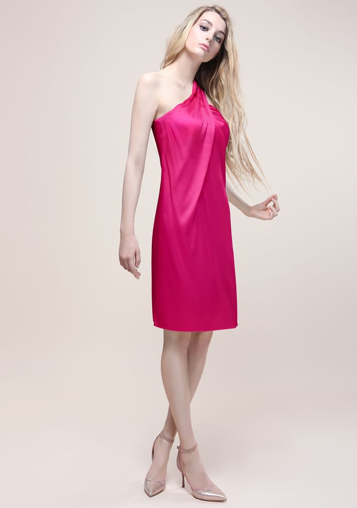 Cyclamen silk dress Outfit proudly made in Italy