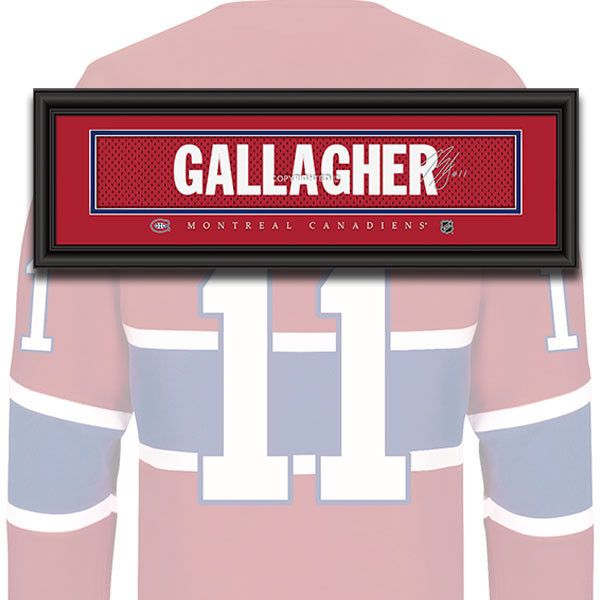 Montreal Canadiens - Brendan Gallagher - NHL Jersey Name Patch