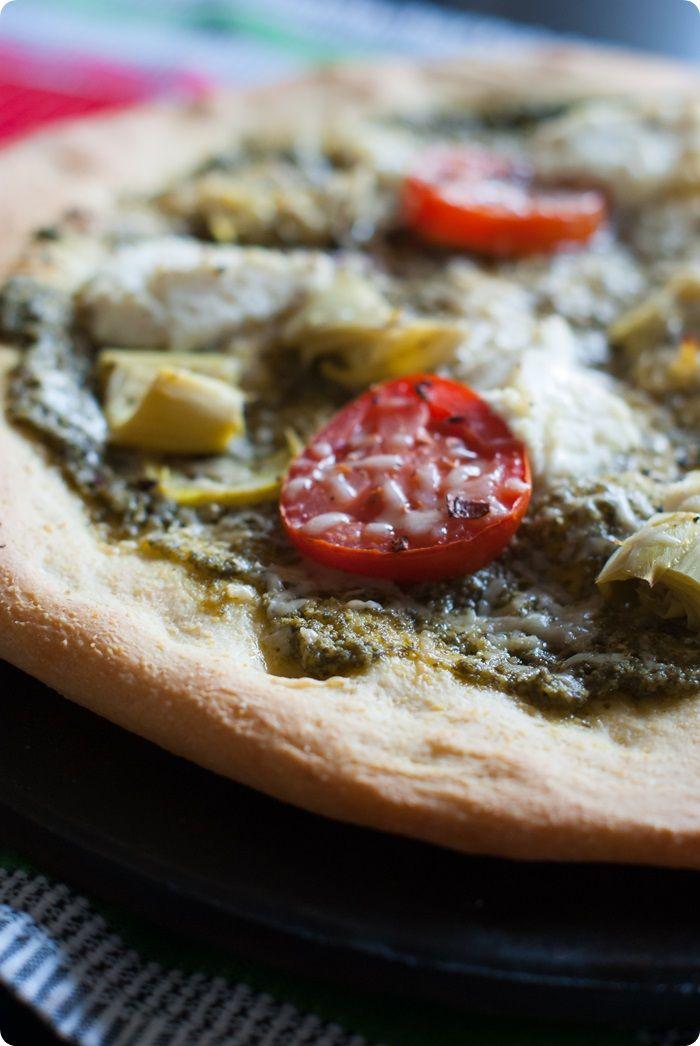 homemade cornmeal pizza crust