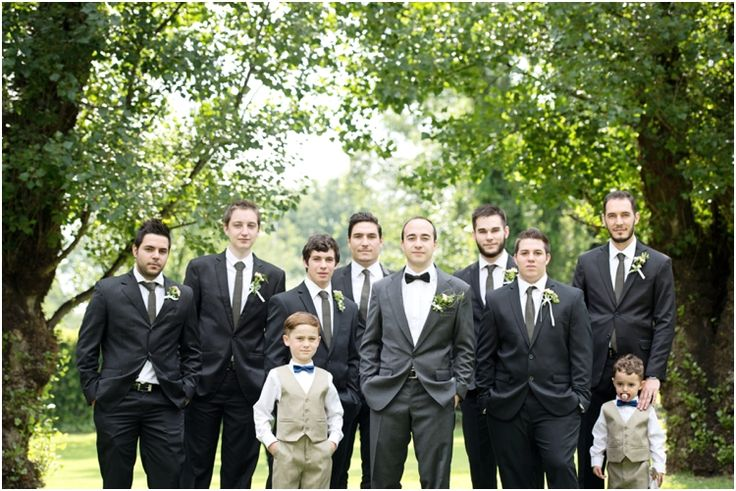Groomsmen and paige boys