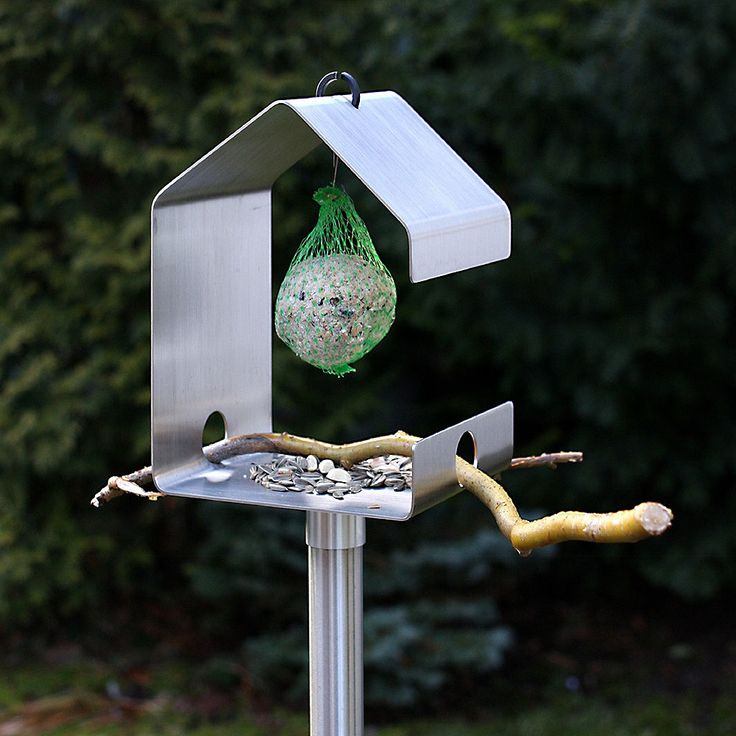 top3 by design - Opossum - bird feeder stainless steel