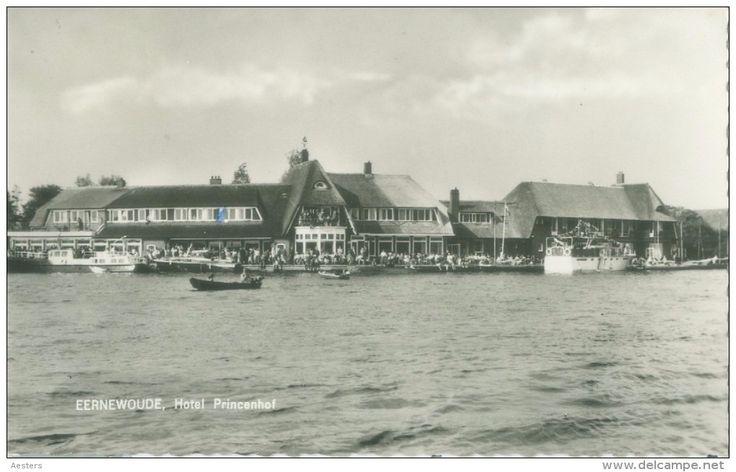 Eernewoude 1957: Hotel Princenhof - circulated with stamp. (Photo card, Jan Kleinhuis - Eernewoude)