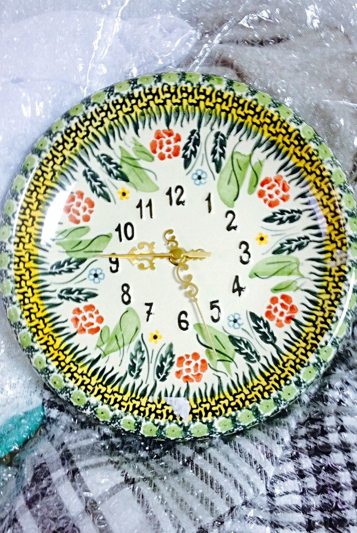 Watches for the kitchen and dining room. Pottery Boleslawiec #посударучнойработы #керамикаручнойработы #посуда #ceramics #pottery #polishpottery ceramic tableware | pottery | polish pottery | boleslawiec | посуда | керамическая посуда | польская керамика | польская посуда | болеславская керамика | керамика