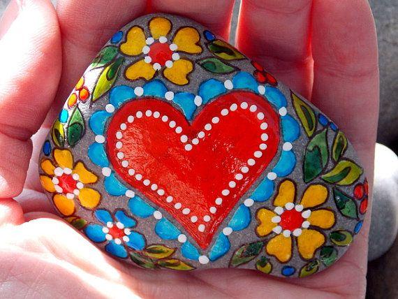 ~Life is Beautiful / Painted Rock / Sandi Pike Foundas / Cape Cod Sea Stone~