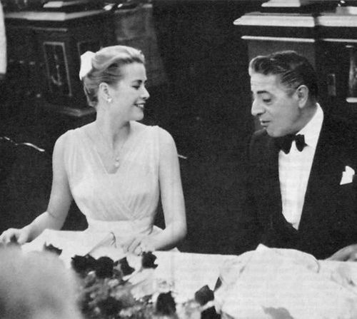 Princess Grace pictured with Aristotle Onassis