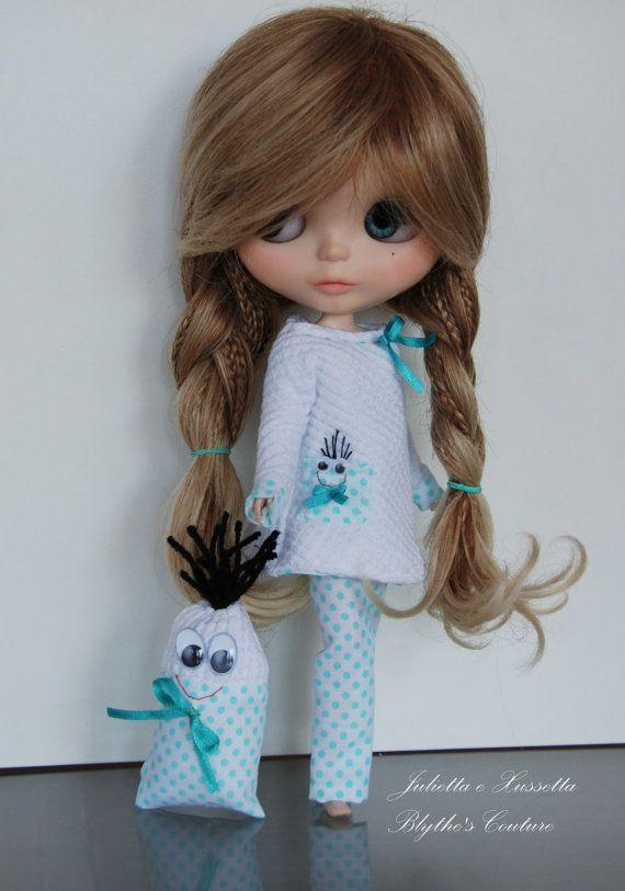 Blythe ...Monster Blythe pyjama in sweet green by juliettaexussetta on Etsy