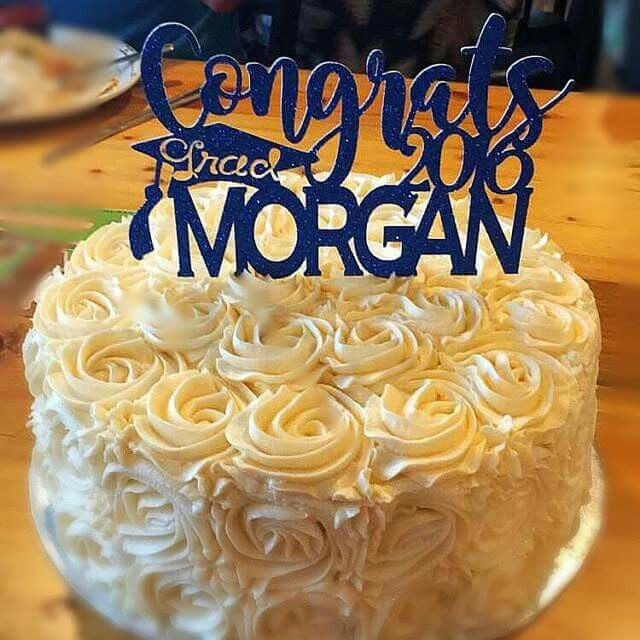 Take a plain cake to the next level. Add a custom cake topper for a designer touch!
