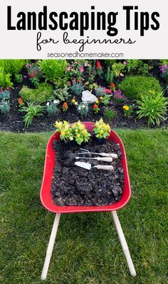 Most people never begin a new landscape because they don't know where to start. I Have 8 Landscaping Tips for Beginners that will teach you How to Landscape - The Seasoned Homemaker
