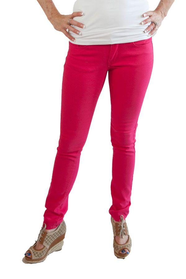 Hot Pink Geso Skinny Jeans