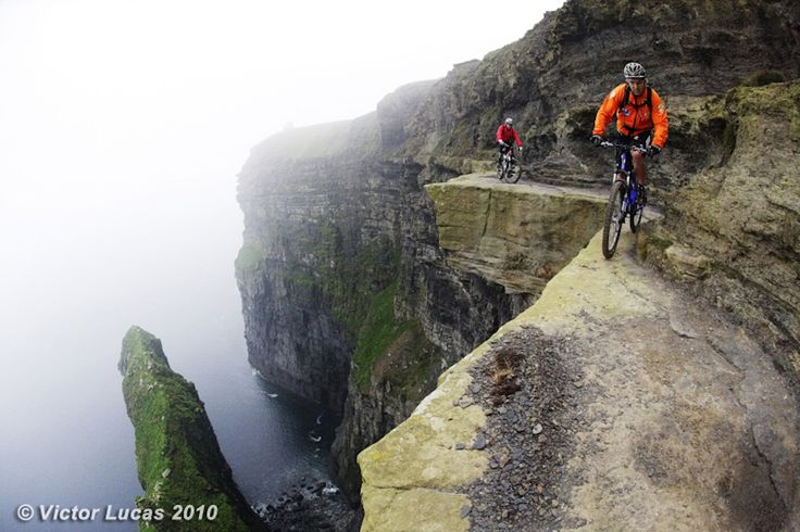 Cliffs of Moher: Extreme Mountain bikingCycling, The Edging, Sports, Cliffs Of Moher, Bikes Riding, Places, Riding A Bikes, Mountain Bikes, Cliff Of Moher