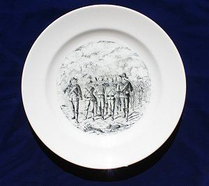 British POW | Anglo-Boer War Museum British POW's depicted on a plate by the Dutch firm of Petru Regout & Co, Maastricht