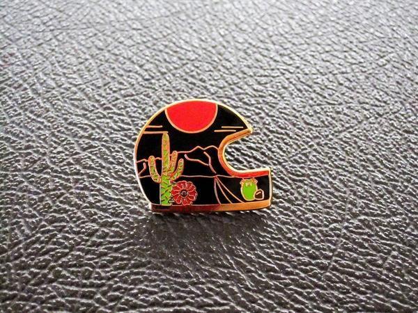 Paradise Bound Helmet Pin