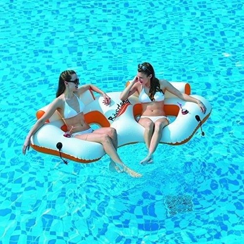 Inflatable Pool Lounge Chairs For 2 Persons Luxury Pool Lounge Float New  #InflatablePoolLoungeChairsFor2Persons