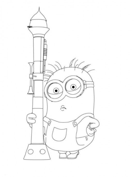 coloring pages purple minions - photo#24