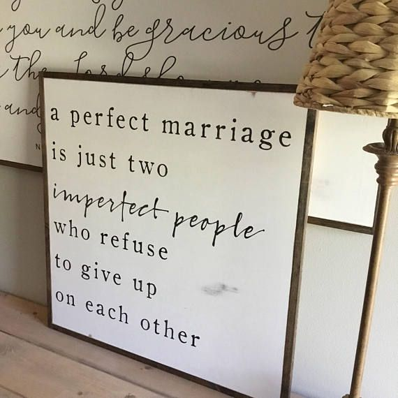 A PERFECT MARRIAGE 2'X2′ | distressed painted wall plaque | shabby stylish farmhouse decor | framed wall artwork | master suite decor