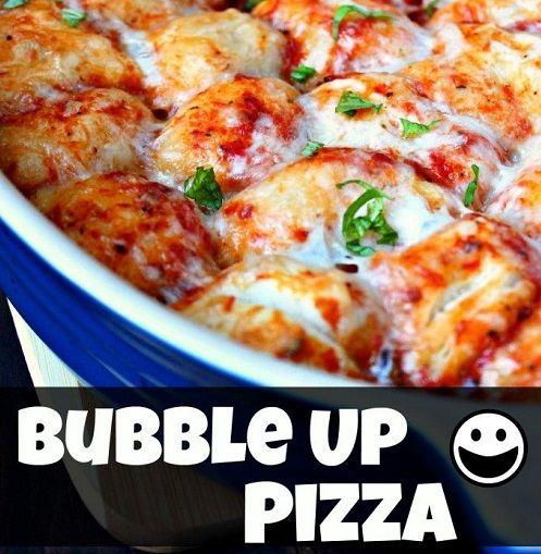 Pizza Sauce, Pulled Apartments, Bubbles Up Pizza, Pizza Casseroles ...