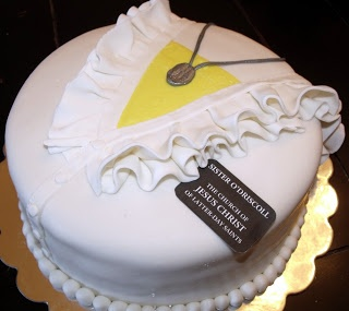 @Lori Bearden Bearden Eagan Crandall thought of you when I saw this! LDS Sister Missionary Cake