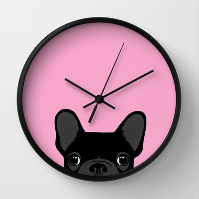 French Bulldog Wall Clock by Anne Was Here - $30.00