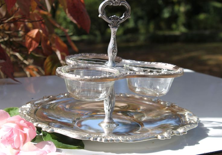 Vintage silver for vintage glam wedding reception, so lovely, rent from southernvintagegeorgia.com: Serving Pieces, Silver Trays, Wedding Ideas, Serving Trays, Wedding Reception